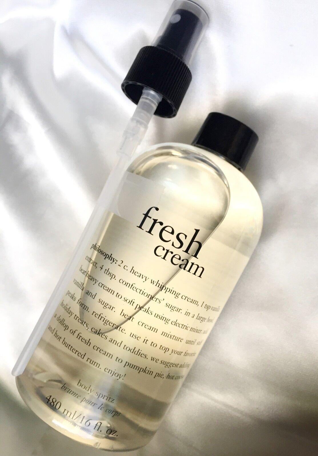 Philosophy 16 oz FRESH CREAM Fragranced Body Spritz with spr
