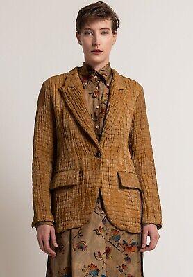 Uma Wang Kikura Jacket Mustard linen silk S 4 handmade in Italy $1800 perfect