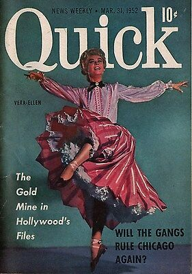 Quick News Weekly Magazine 1952 March 31 News Entertainment Photos