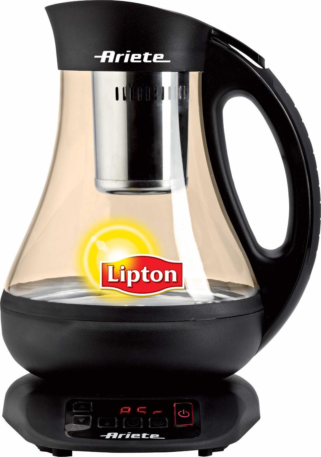 Bollitore elettrico Ariete Lipton automatic tea maker tisane vetro 2894 - Rotex
