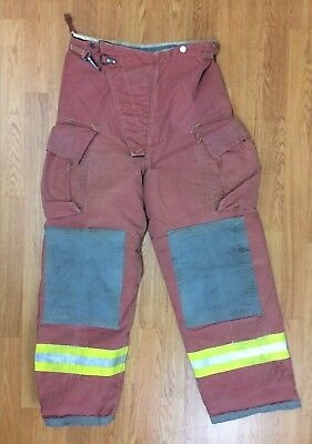Firefighter Red Bunker Turnout Pants 36 X 31 Quest
