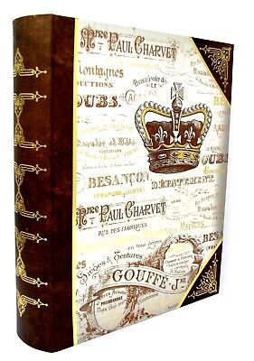 Punch Studio Decorative Nesting Book Box Royal Crown Gold Foil 60665 X Large