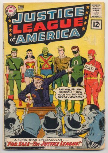 Justice League of America #8 (1962) Good (2.0) ~ DC Comics ~ Silver Age