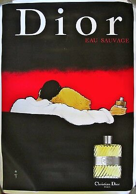 Christian Dior Cologne Advertisement Poster on Linen