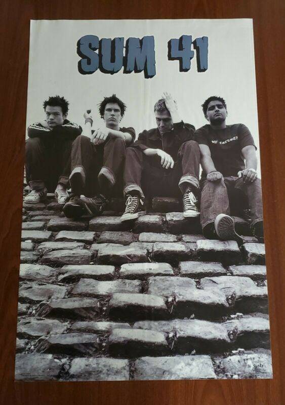 Rare SUM 41 Does This Look Infected Poster Original 2002 Funky #6583