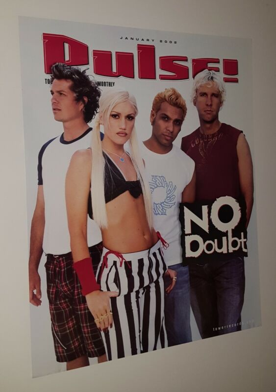 NO DOUBT PROMOTIONAL ONLY POSTER PULSE MAGAZINE GWEN STEFANI 2002