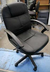 New Black Executive Gaslift Chair Arms Ergonomic Office Furniture Melbourne CBD Melbourne City Preview