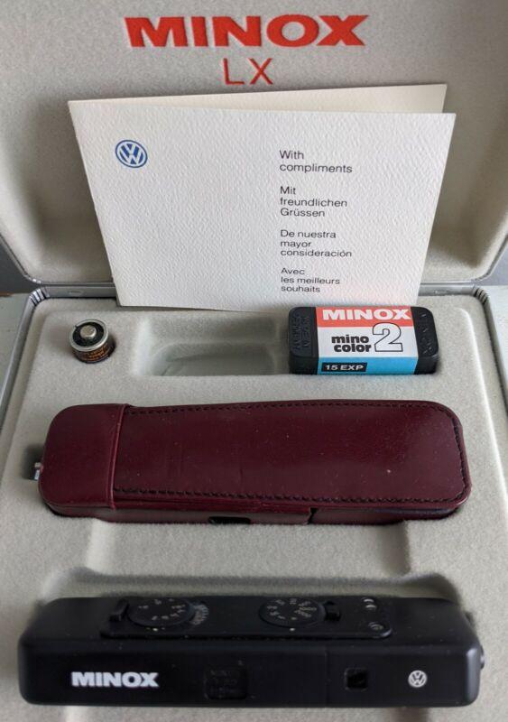 VW Logo Branded Minox LX Subminiature Camera Black Anodized