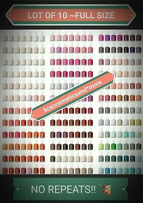 10 Essie Nail Polish Lot Set Full Size~NO REPEAT+AVON FILE=GIFT🎁BLOWOUT!!