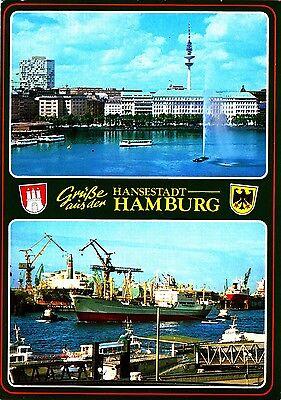 Hamburg , Ansichtskarte , 1989 gelaufen