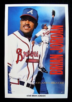CIRCA 1999 BRIAN JORDAN ATLANTA BRAVES 4x6 UNUSED COSTACOS MINI POSTER Brian Jordan Atlanta Braves