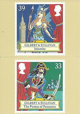 U.K. - GILBERT & SULLIVAN 1992, A ROYAL MAIL STAMP CARD SERIES PHQ #145 - UNUSED