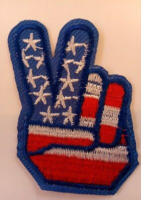 1960s Peace Sign (1960'S Style PEACE SIGN  Iron on Patch 2