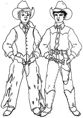 ClassicWestern Accessories Sewing Pattern  Boots Chaps Gun  Holster For AG #4