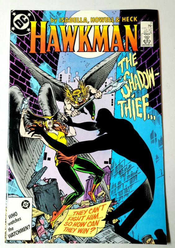 HAWKMAN DC Comics No. 2 (Sep 1986) Hawkgirl The Shadow-Thief Boarded & Bagged