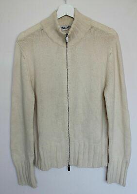 Iris Von Arnim 4-6 Ply 100% Cashmere Chunky Knit Full Zip Sweater 50 S / M Italy