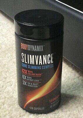 BodyDynamix Slimvance Core Slimming Complex 120 Capsules, Exp 2022