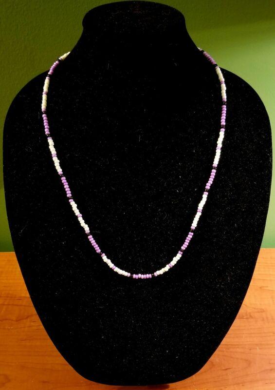Jim Morrison Cobra Necklace The Doors Replica HANDMADE Glass Beads Purple White