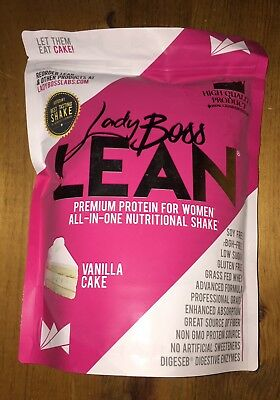 (LADY BOSS LEAN PREMIUM PROTEIN POWDER NUTRITIONAL SHAKE VANILLA CAKE FAST SHIP!)