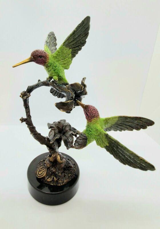 SPI Galleries Hummingbird Brass Statue