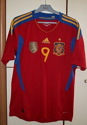 Spain 2011 - 2012 Home football shirt jersey Adidas size M #9 Torres image