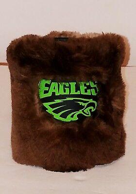 Beer Bottle Cozy (Philadelphia Eagles Beer Can Bottle Cozy  Insulated Holder Real Fur)