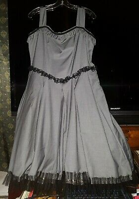 Goth Steampunk Lolita Halloween/Cosplay Costume Dress Gray Size 3X
