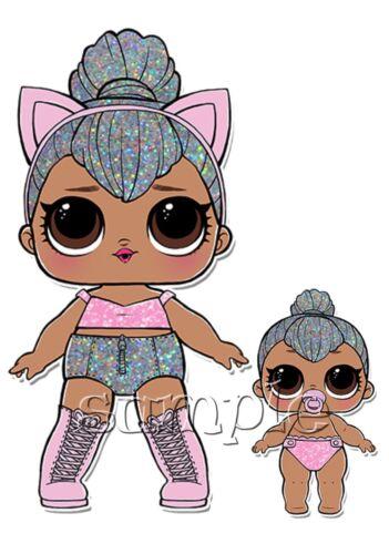 Iron On Transfer Lol Dolls Doll Kitty Queen Glitter Lil