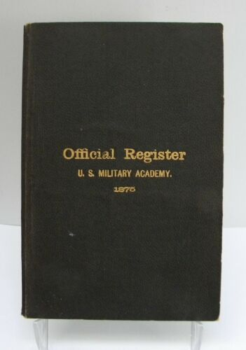 1875 Official Register - U.S. Military Academy, West Point, New York