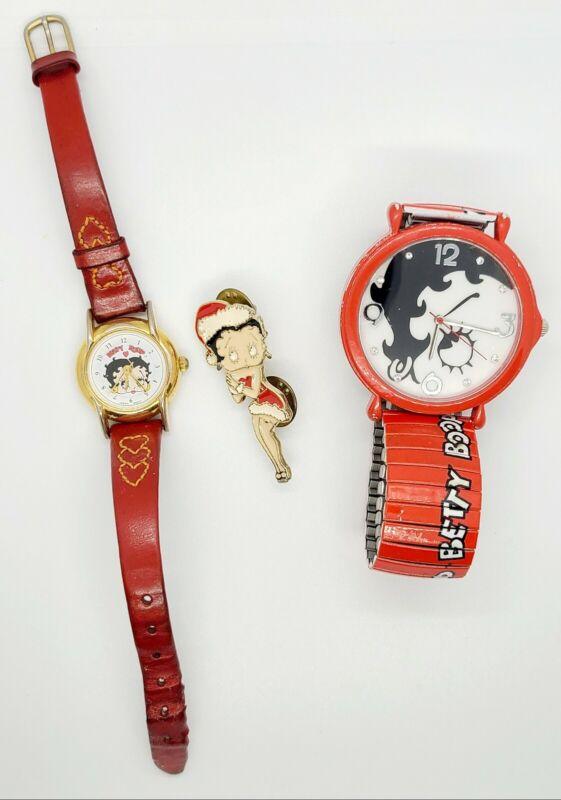 Betty Boop vintage collectors pin brooch watch lot