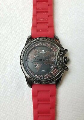 Ice King Quartz Large Mens WORLD Watch with New Battery!!!