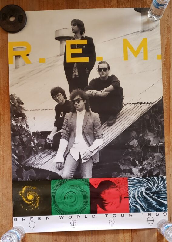 R.E.M - 1989 Green World Tour Promotional Poster