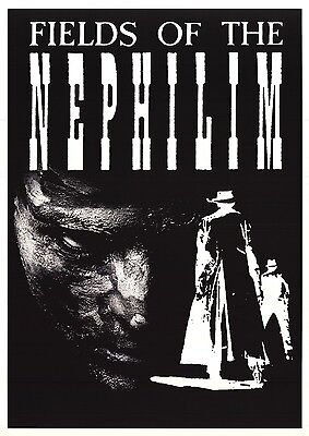 MUSIC POSTER~Fields of the Nephilim Original UK Import 24x34 NOS Mint Carl McCoy