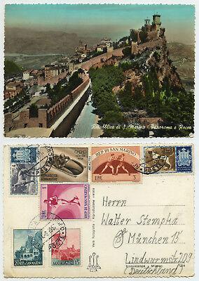 49135 - San Marino - La Rocca - Echtfoto koloriert - AK, gelaufen 11.6.1957