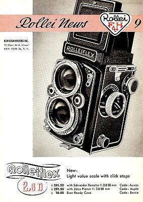 Инструкции и руководства 1956 ROLLEI ROLLEIFLEX