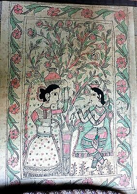 MADHUBANI MITHILA BIHAR PAINTING TRADITIONAL INDIA PAINTING INDIA