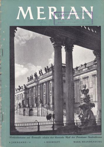 @ Merian-Heft von 1951 - Mark Brandenburg (4. Jg. - Nr. 4; 1. Halbheft; Stempel)