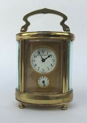J.E. Caldwell & Co 19Th C Fine French Antique Oval Carriage Alarm Clock w/ Bell