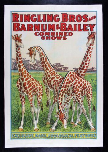 RINGLING BROS BARNUM BAILEY CineMasterpieces GIRAFFE AFRICA JUNGLE CIRCUS POSTER