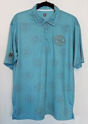 Siam Country Club Mens Golf Shirt Size M 2bU Plantation Teal Gray 100% Polyester Plantation Golf Country Club