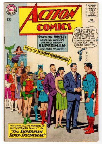 Action Comics #309 (DC 1964) 12 Cent Silver-Age Superman JFK App VG 4.0