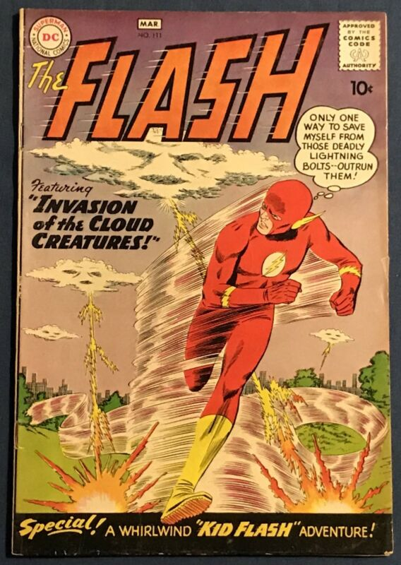 The Flash #111  March 1960  Kid Flash 2nd Appearance