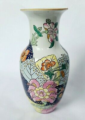 Japanese Vintage Double Gourd Pottery Vase  8.5 inches tall Jade Green on Beige Clay Signed