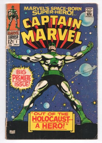 Captain Marvel #1 1st Series Roy Thomas Gene Colan Marvel May 1968 GD