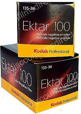 2 x KODAK EKTAR 100 35mm 36exp CHEAP COLOUR PRINT FILM by 1st CLASS POST