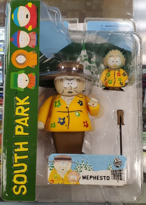 NEW ~ 2007 SOUTH PARK ~ MEPHESTO with KEVIN & CANE with OPEN MOUTH FIGURE MEZCO