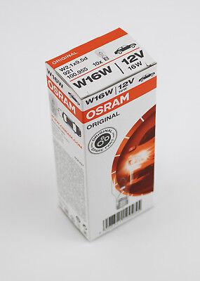 10 Stück W16W 16W 921 12V Glassockel Glühlampe Lampe Osram   gebraucht kaufen  Cottbus