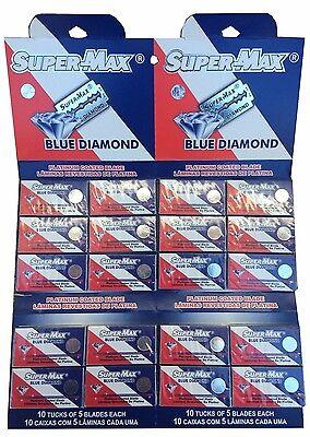 100 Super-Max Blue Diamond double edge razor blades Diamond Razor Edge