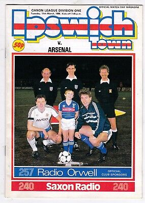 IPSWICH TOWN V ARSENAL DIVISION ONE 11/3/86