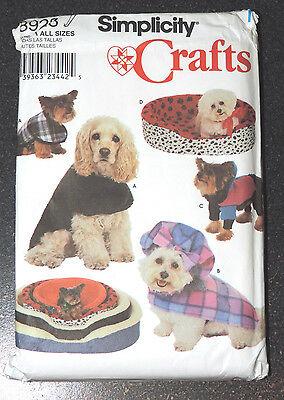 Simplicity Crafts #8928 Sewing Pattern Dog Bed Covers Dog Coats All Sizes